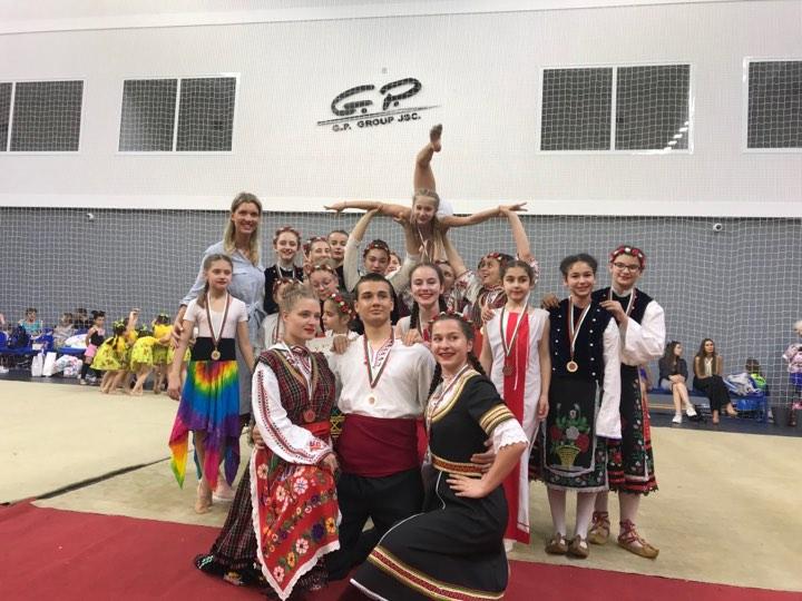 """Почетно място за Частно средно училище """"Юрий Гагарин"""" в Държавната Гимнастриада!"""