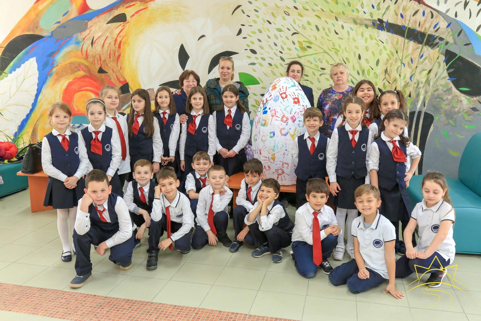 """Първокласниците от ЧСУ """"Юрий Гагарин"""" зарадваха деца с нарушено зрение"""